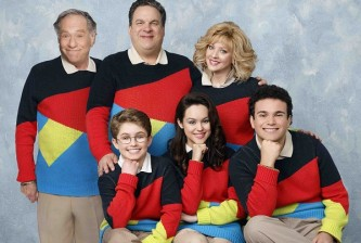 STANDING: GEORGE SEGAL, JEFF GARLIN, WENDI MCLENDON-COVEY;  