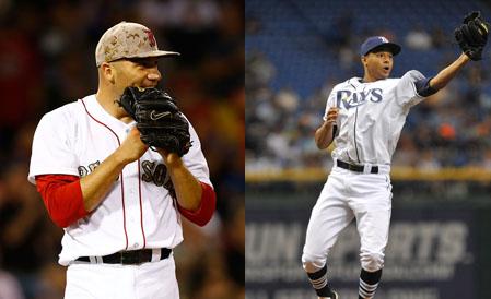Alfredo Aceves (L), Chris Archer (R)