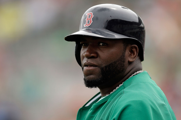 David Ortiz #34 of the Boston Red Sox waits to bat in the first inning of a game against the St. Louis Cardinals at JetBlue Park at Fenway South on March 17, 2014 in Fort Myers, Florida.