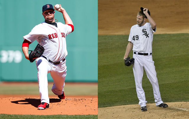 Jon Lester (L), Chris Sale (R)