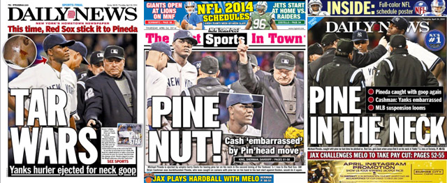 New York Tabloid covers for Thursday, April 24, 2014