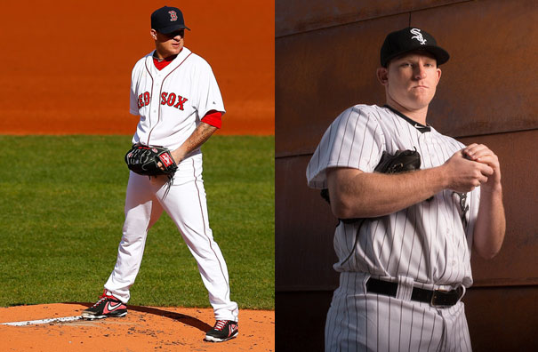 Jake Peavy (L), Erik Johnson (R)