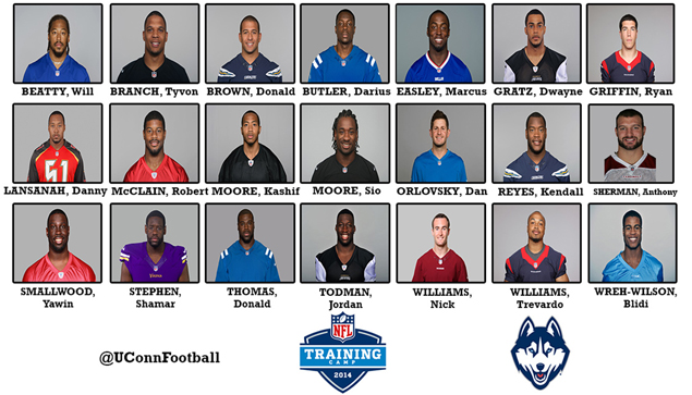 21 Former Uconn Football Players In 2014 Nfl Camps Sox