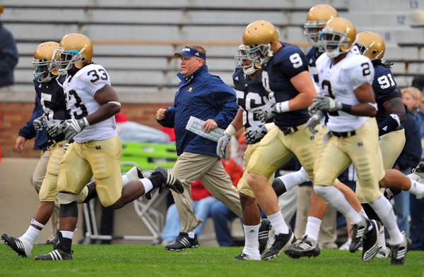 brian kelly leads the team