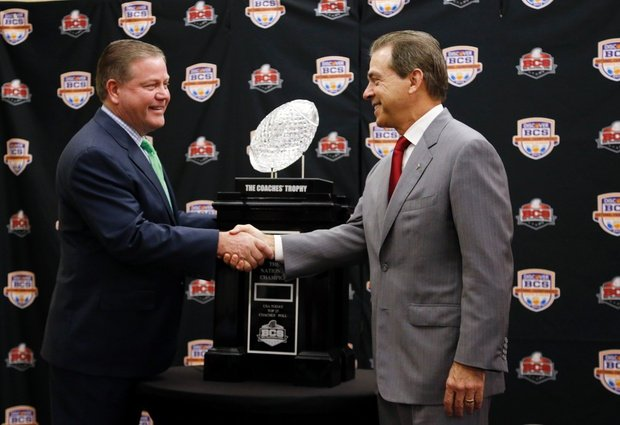 brian kelly nick saban crystal ball