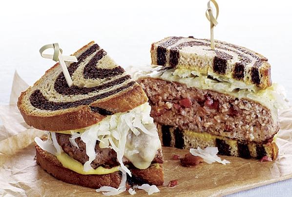 pork and sauerkraut burger