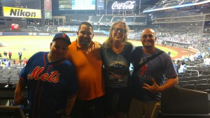 Dom, Michael, me, and Chris after the game.