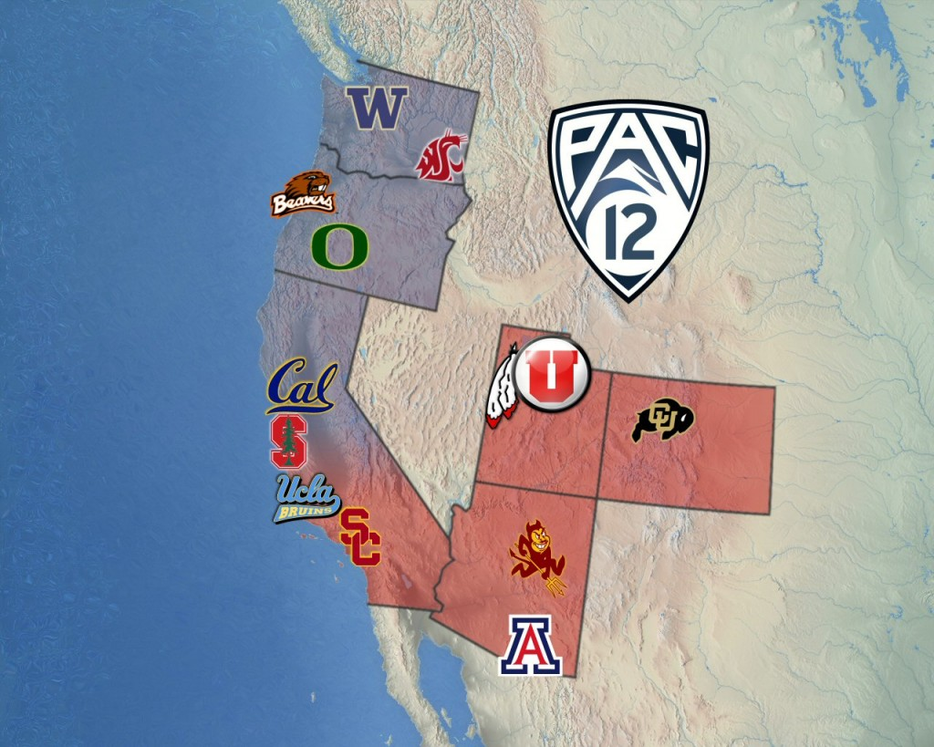 PAC-12 Map